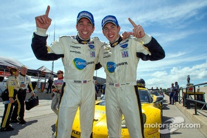 GT winners Oliver Gavin, Tom Milner