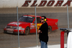 NASCAR-TRUCK: Tony Stewart looks on