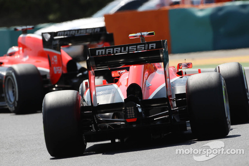 Max Chilton, Marussia F1 Team MR02 follows team mate Jules Bianchi, Marussia F1 Team MR02
