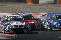 Tom Coronel, BMW E90 320 TC, ROAL Motorsport ,  James Thompson, Lada Granta, LADA Sport Lukoil and Jose Maria Lopez, BMW 320 TC, Wiechers-Sport