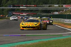 Pace lap; #52 Sport Garage Ferrari 458 Italia: Romain Brandela, Leonardo Gorini, Stéphane Lemeret, Thierry Prignaud