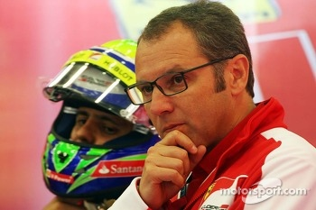 Stefano Domenicali, Ferrari General Director with Felipe Massa, Ferrari