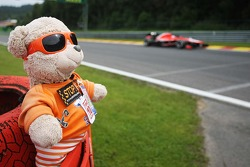 Jules Bianchi, Marussia F1 Team MR02 passes a teddy bear marshal