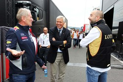 Dr Helmut Marko, Red Bull Motorsport Consultant, and Gerard Lopez, Genii Capital,