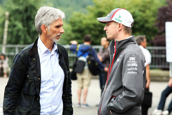 Damon Hill, Sky Sports Presenter with Nico Hulkenberg, Sauber