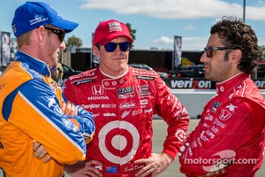 Charlie Kimball, Scott Dixon and Dario Franchitti