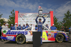 Race winner Chase Elliott celebrates
