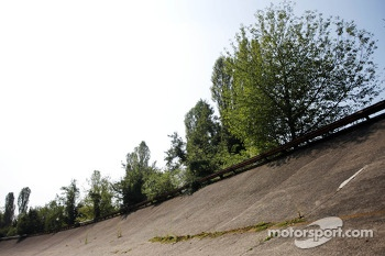 The old Monza circuit banking
