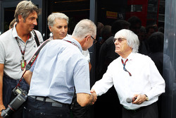 Bernie Ecclestone, CEO Formula One Group, with Jad Sherif, Photographer