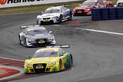 Mike Rockenfeller, Audi Sport Team Phoenix Racing Audi A5 DTM, Filipe Albuquerque, Audi Sport Team Rosberg Audi RS 5 DTM, Dirk Werner, BMW Team Schnitzer BMW M3 DTM