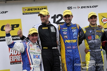 Round 24 Podium; 1st Andrew Jordan, 2nd Colin Turkington, 3rd Jason Plato, JST Winner Lea Wood