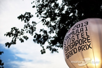Singapore Grand Prix lighting balloon in the paddock