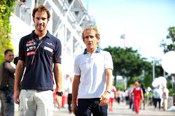 Jean-Eric Vergne, Scuderia Toro Rosso with Alain Prost