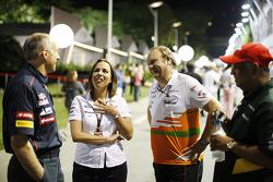 Franz Tost, Scuderia Toro Rosso Team Principal with Claire Williams, Williams Deputy Team Principal, Robert Fernley, Sahara Force India F1 Team Deputy Team Principal, and Tony Fernandes, Caterham F1 Team