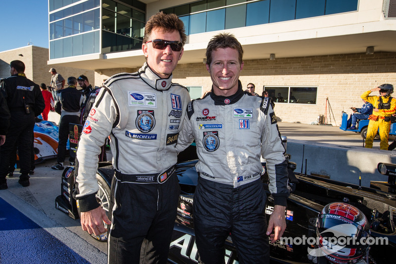 P2 winners Scott Tucker and Ryan Briscoe