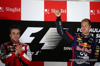 Fernando Alonso, Ferrari and Sebastian Vettel, Red Bull Racing