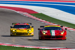 #61 AF Corse Ferrari 458 Italia: Jack Gerber, Matt Griffin, Marco Cioci #50 Larbre Competition Chevrolet Corvette C6-ZR1: Patrick Bornhauser, Julien Canal, Fernando Rees