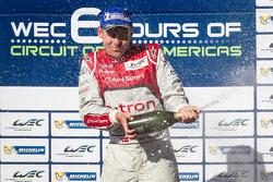 LMP1 podium: champagne for Tom Kristensen