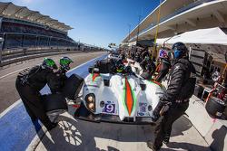 Pit stop for #9 RSR Racing Oreca FLM09 Oreca: Bruno Junqueira, Duncan Ende