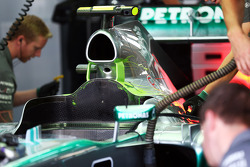 Lewis Hamilton, Mercedes AMG F1 W04 with flow-vis paint o nthe engine cover