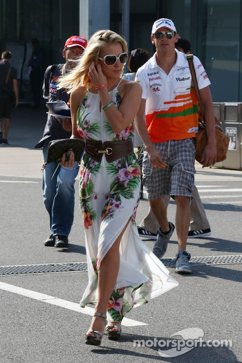 Jennifer Becks, with boyfriend Adrian Sutil, Sahara Force India F1