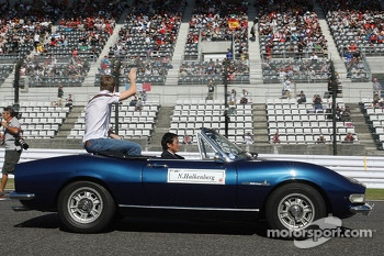 Nico Hulkenberg, Sauber on the drivers parade
