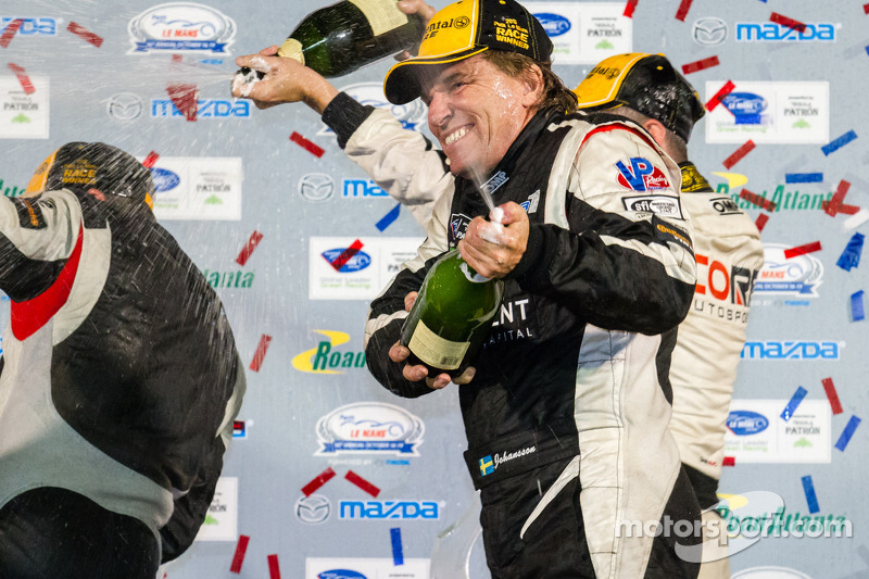 PC podium: champagne for Stefan Johansson