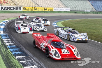 Le Mans winning Porsches