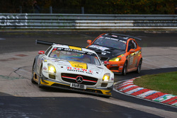 Michael Zehe, Marko Hartung, Jan Seyffarth, Rowe Racing, Mercedes Benz SLS AMG GT3