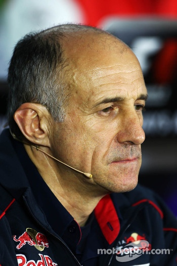 Franz Tost, Scuderia Toro Rosso Team Principal in the FIA Press Conference