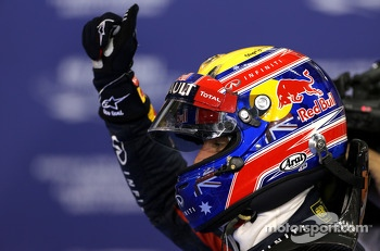 Polesitter Mark Webber, Red Bull Racing
