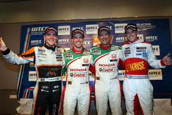 Press conference,, Norbert Michelisz, Honda Civic, Zengo Motorsport, Tiago Monteiro, Honda Civic Super 2000 TC, Honda Racing Team Jas, Gabriele Tarquini, Honda Civic, Honda Racing Team J.A.S.  and James Nash, Chevrolet Cruze 1.6 T, Bamboo Engineering