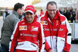 (L to R): Felipe Massa, Ferrari with Stefano Domenicali, Ferrari General Director