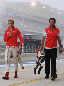 Max Chilton, Marussia F1 Team with Sam Village, Marussia F1 Team