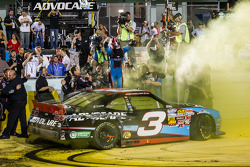 NASCAR Nationwide Series 2013 champion Austin Dillon celebrates