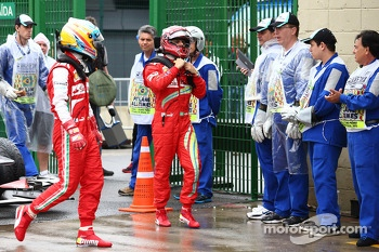 Fernando Alonso, Ferrari F138 and Felipe Massa, Ferrari