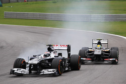 Valtteri Bottas, Williams FW35 locks up under braking