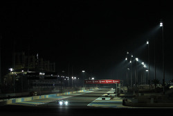 Night racing action
