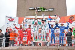 GT500 winners Kazuki Nakajima, James Rossiter