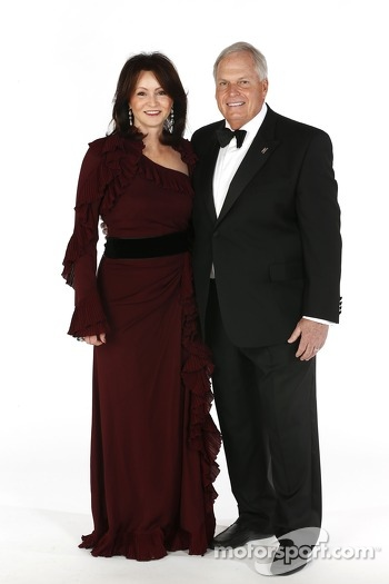 Team owner Rick Hendrick and his wife Linda