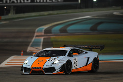 #69 Gulf Racing Lamborghini Gallardo LP600+ GT3: Roald Goethe, Frederic Fatien, Stuart Hall