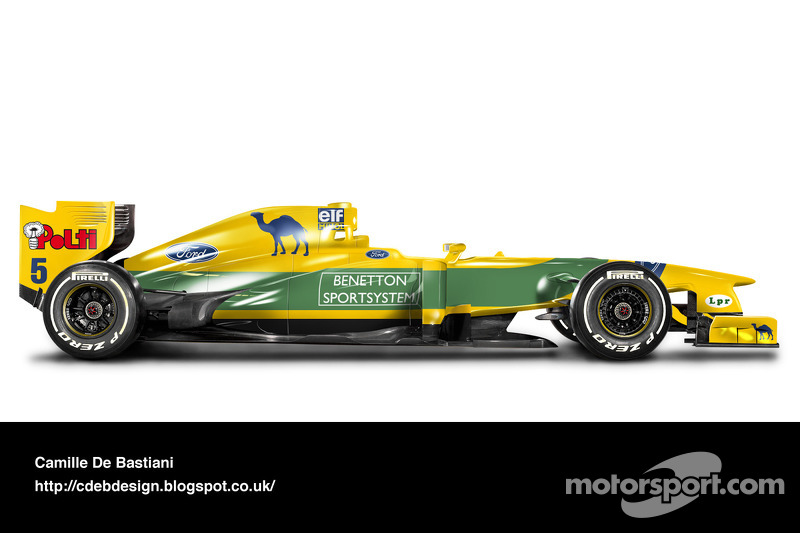 Formel-1-Auto im Retrodesign: Benetton 1993