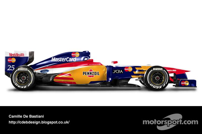 Formel-1-Auto im Retrodesign: Lola 1997