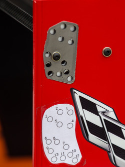 #90 Spirit Of Daytona Corvette DP Chevrolet rear wing detail