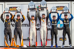 ST podium: class winners Jeff Mosing and Eric Foss, second place Gregory Liefooghe and Tyler Cooke, third place Cory Friedman and David Baum