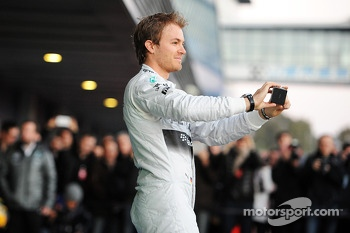 Nico Rosberg, Mercedes AMG F1 at the unveiling of the new Mercedes AMG F1 W05