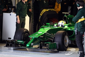 Marcus Ericsson, Caterham CT04 leaves the pits
