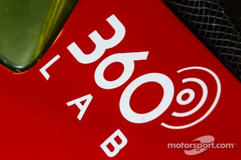 360 Lab logo on the #63 Scuderia Corsa Ferrari 458 Italia