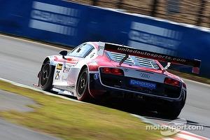 #25 United Autosports Audi R8 LMS ultra: Mark Patterson, Eric Lux, Markus Winkelhock