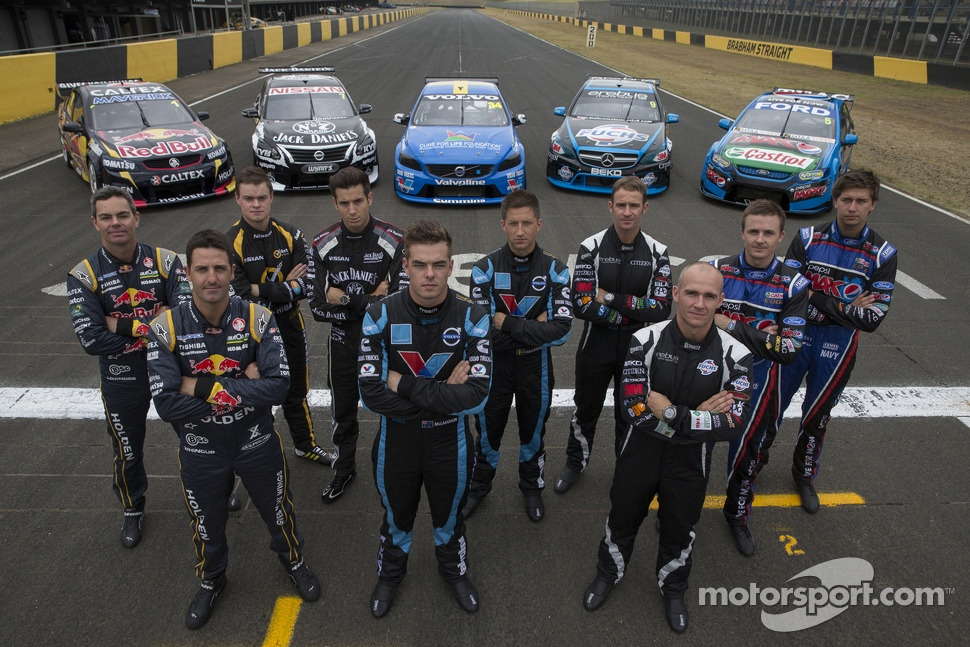 Craig Lowndes, Jamie Whincup, James Moffat, Rick Kelly, Scott McLaughlin, Robert Dahlgren, Will Davison, Lee Holdsworth, Mark Winterbottom and Chaz Mostert